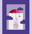 umbrella or parasol open poster or card vector image vector image