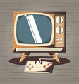 video game retro with tv vector image