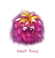 sweet pink pussy on white background vector image