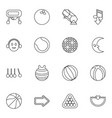 16 ball icons vector image vector image