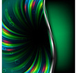 Abstract green background vector image vector image