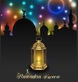 arabic lamp for ramadan kareem architecture vector image vector image