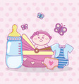 baby shower cartoons vector image vector image