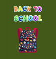 back to school poster with bag