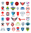 biggest collection of logos protection and vector image vector image
