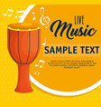 bongos musical instrument label vector image