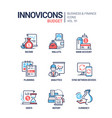 budget - line design style icons set vector image vector image
