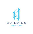 building tech logo icon vector image