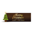 christmas banner with fir-tree vector image vector image