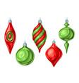 christmas set of balls vector image vector image