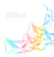 color background abstract polygon triangle vector image vector image