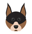 cute doberman dog avatar vector image vector image