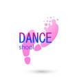 dance logo for dance school dance studio vector image