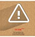 danger exclamation mark Flat modern web design on vector image