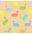 Dino colored seamless background vector image vector image