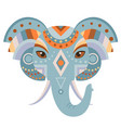 elephant head logo decorative emblem vector image vector image