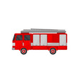 fire truck engine emergency vehicle side view vector image