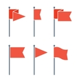 Flag Pin Flat Icon Set vector image