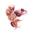 Flowers rose one stroke painting vector image