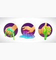 funny colorful homemade slime holding in hand vector image vector image