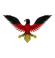German eagle bird in flag colors vector image vector image