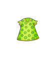 green summer polka dotted dress for a little girl vector image vector image
