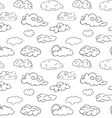 Hand drawn Doodle set of different Clouds sketch vector image vector image