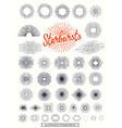 Handmade sunburst design elements