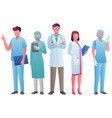 health care workers 2 vector image