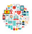 health icons circle vector image vector image