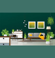 interior background of modern living room vector image vector image