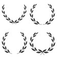 laurel wreaths of different shapes isolated vector image vector image
