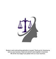 law firm with people logo design template law vector image vector image