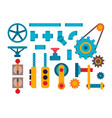 machine parts different mechanism vector image