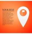 Map marker with a golf flat icon on orange vector image vector image