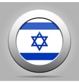 metal button with flag of Israel vector image