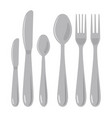 metal knife spoon and fork vector image