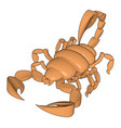 mode a 3d scorpion on white background vector image vector image