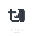 number 2 logo sign two logotype or design vector image vector image