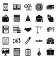 ought icons set simple style vector image vector image