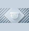 paper cut motion sensor icon isolated on grey vector image vector image