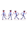 policeman walking and running vector image