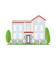 real estate house for sale vector image vector image