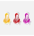 realistic design element dressmaker vector image vector image