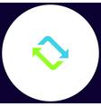 refresh computer symbol vector image vector image