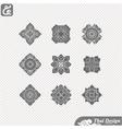 set line thai art design vector image vector image