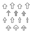 set of silhouettes arrows vector image vector image
