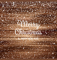 snow with snowflakes on wood winter background vector image