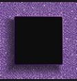 square frame purple sequins glitter sparkle dot vector image