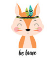 squirrel tribal on white vector image vector image